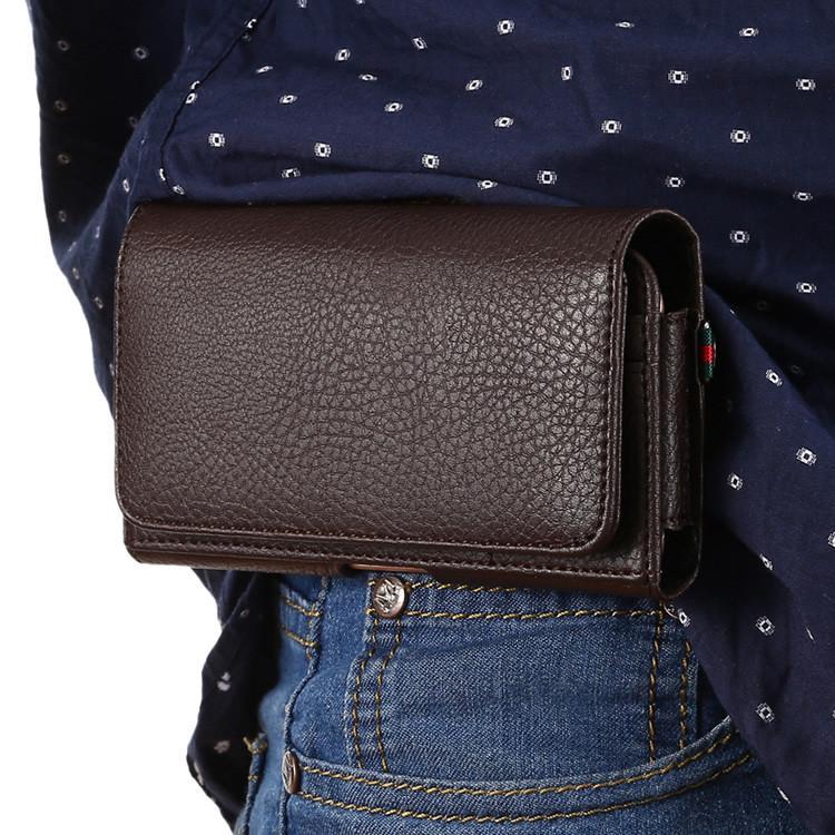 """LG V35 ThinQ оригинальный чехол на пояс поясной кожаный из натуральной кожи с карманами """"RAMOS"""""""