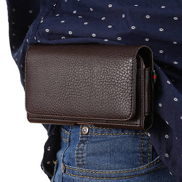 """HONOR 6X оригинальный чехол на пояс поясной кожаный из натуральной кожи с карманами """"RAMOS"""""""