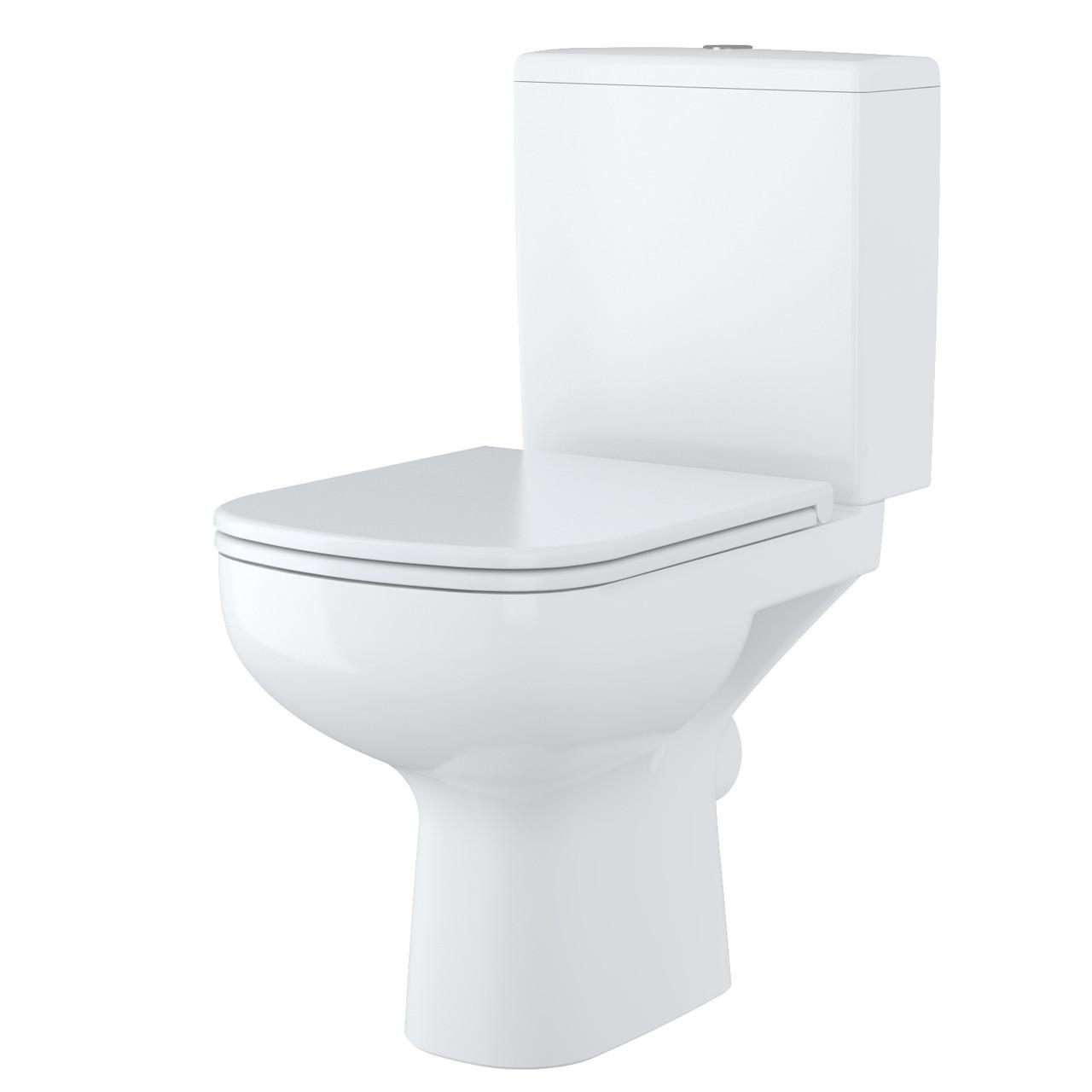 Унітаз Cersanit COLOUR 011 з білим вільнопадаючим дюропластовим сидінням