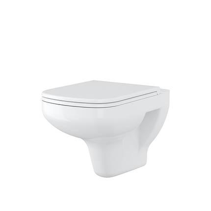 Унітаз підвісний Cersanit COLOUR з білим дюропластовим сидінням, фото 2