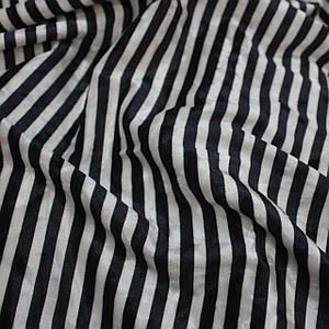 Ткань бархат мрамор принтованный полоска синяя с белой
