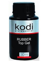 Каучуковое верхнее покрытие 30 мл KODI Rubber Top для наращивания ногтей топ на гель лак коди