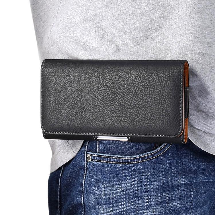 """ASUS ZenFone Max Pro M1 оригинальный чехол на пояс поясной кожаный из натуральной кожи с """"GABINO"""""""