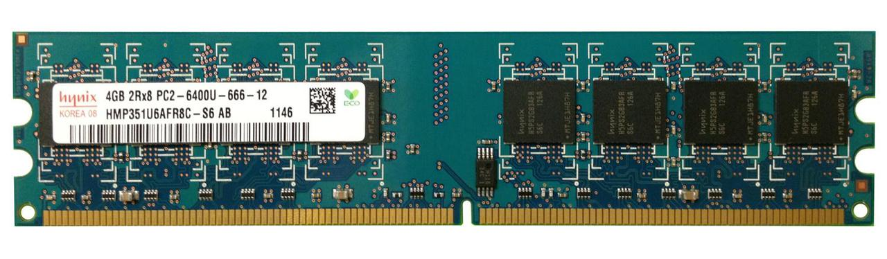 "Оперативная память Hynix DDR2 4GB 800MHz DIMM (HMP351U6AFR8C-S6 AB) ""Over-Stock"" Б/У"