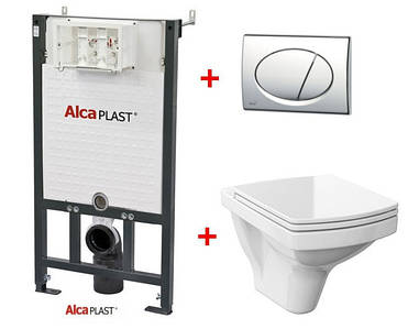 Інсталяція AlcaPlast + Унітаз Cersanit EASY з вільнопадаючим сидінням