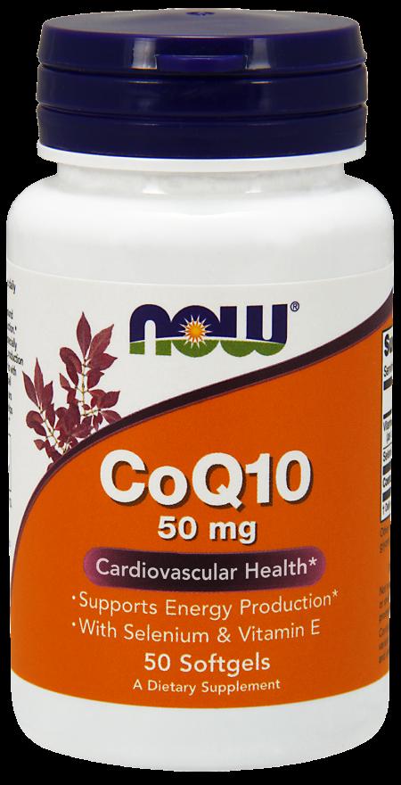 Now CoQ10 50mg 50 softgels