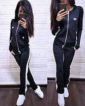 Костюм женский, кофта на змейке и штаны, размеры от 42 до 56 Турция, фото 3