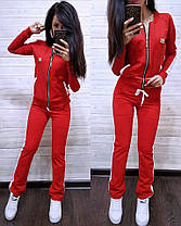 Костюм женский, кофта на змейке и штаны, размеры от 42 до 56 Турция, фото 2