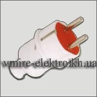 Вилка электрическая евро с заземлением прямая усиленная 16 А Fetih F 01