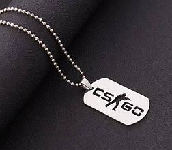 Кулон жетон Counter-Strike CS:GO цвет Серебро, фото 3