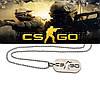 Кулон жетон Counter-Strike CS:GO цвет Серебро
