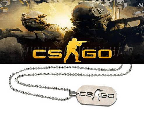 Кулон жетон Counter-Strike CS:GO цвет Серебро, фото 2