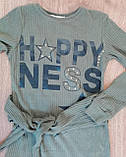 Платье трикотажное Для девочек С завязками Хаки Вискоза Marions Турция, фото 2