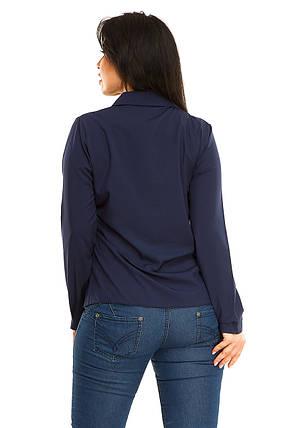 Блузка 5278 темно-синий размер 50, фото 2