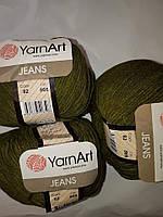 YarnArt Jeans - 82 зеленый