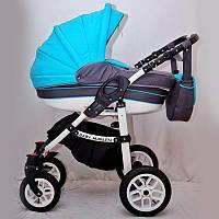 Коляска 2 в 1 Bambino Baby Marlen голубая, фото 1