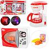 Набор бытовой техники LS8282K  микроволновка,кофеварка, муз, св, продукты, бат, в кор, 45-23-11,5см