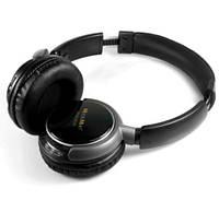 Стереонавушники MusicMan TXX3786 BassHead MP3 FM SD еквалайзер чорні, фото 1