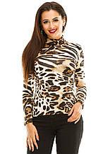 Водолазка  277 леопард