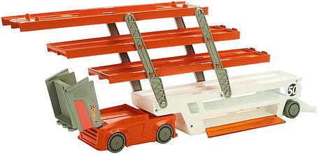 Автовоз Хот Вилс на 50 машин обновленный Hot Wheels Mega Hauler Truck-Orange, фото 2