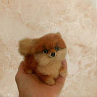 Игрушка собачка из шерсти, фото 1