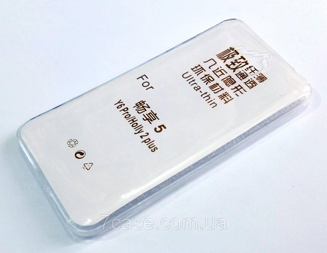 Чехол для Huawei Y6 Pro силиконовый ультратонкий прозрачный