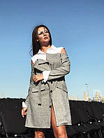Оригинальное женское платье с открытыми плечами (К23911), фото 1