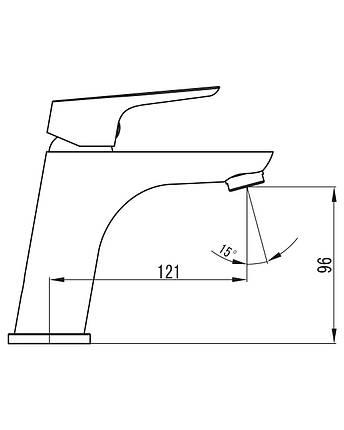 KUCERA змішувач для раковини, хром 35 мм 05105, фото 2