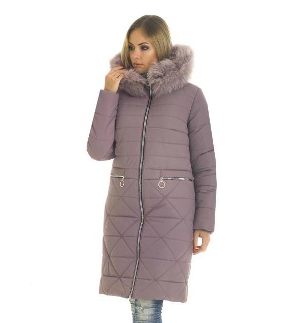 Пуховик зимний женский с мехом песеца большого размера недорого в Украине интернет-магазин р. 42-56