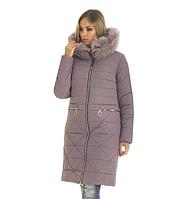 Пуховик зимний женский с мехом песеца большого размера недорого в Украине интернет-магазин р. 42-56, фото 1