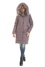 Пуховик зимний женский с мехом песеца большого размера недорого в Украине интернет-магазин р. 42-56, фото 2