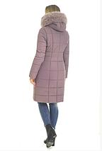 Пуховик зимний женский с мехом песеца большого размера недорого в Украине интернет-магазин р. 42-56, фото 3