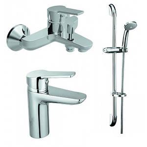 Комплект змішувачів для ванни Koller Pool Kvadro 3 в 1 KR0200+KR0100+KR010 Австрія