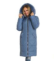 3f70b2245 Пуховик зимний женский с натуральным мехом песец большого размера недорого  в Украине интернет-магазин р