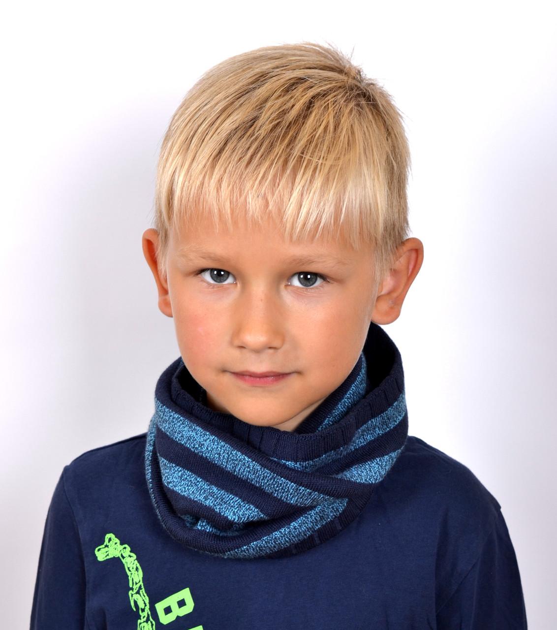 089 Хомут Полоска. От 4 лет. Джинс,голубой, т.зеленый,т.серый. бордо