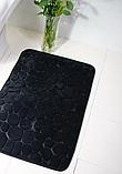 Плюшевый коврик «Галька» 40×60 см черный, фото 4