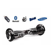 "Гироборд 6.5"" BT SD молния, мраморный (АКБ Samsung) гироскутер, гироборд 6,5 дюймов, смартвей, сигвей, гиробо"