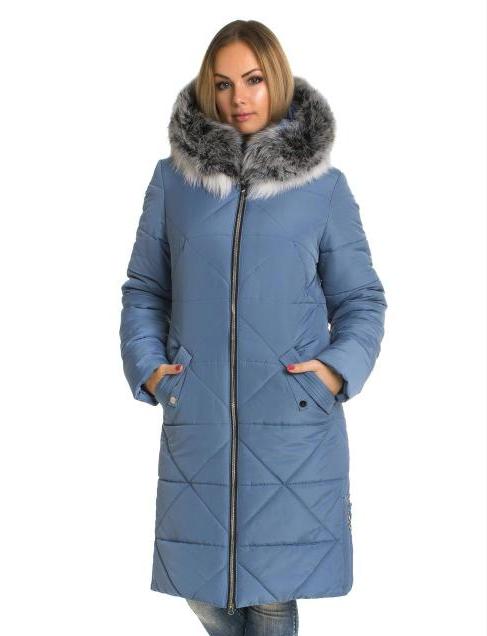 b30121901872c Пуховик зимний женский с натуральным мехом песец большого размера недорого  в Украине интернет-магазин р