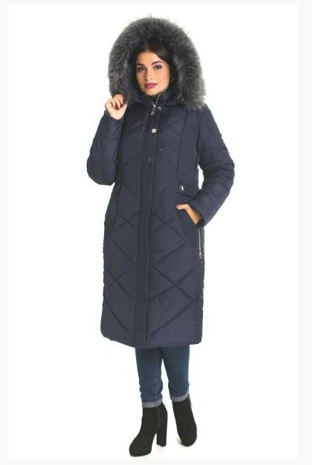 Пуховик зимний женский с мехом большого размера недорого в Украине интернет-магазин р. 48-66