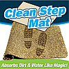 Супервпитывающий придверный коврик Clean Step Mat, коврик в прихожую, подстилка под дверь