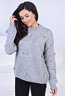 Осенний свитер женский 4115 Б-Турция, фото 1