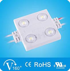 Светодиодный модуль Rishang с линзой (140Lm),White 4-LED SMD 2835, 1.44W DC 12V, IP68