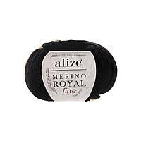 Alize Merino Royal Fine - 60 черный