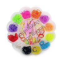 Оптовая распродажа! Резиночки для плетения Органайзер (500шт) Цветок