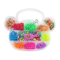 Оптовая распродажа! Резиночки для плетения Органайзер (500шт) Мишка