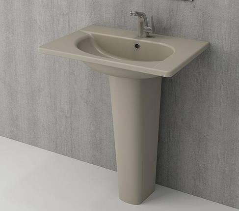 Умивальник BOCCHI Arch Vanity Basin 65x45 кашемір матовий, фото 2