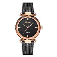 Женские часы Geneva Shine black rose gold, фото 1