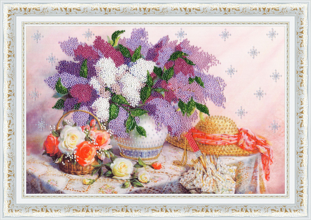 Набор для вышивки бисером Золотое Руно РТ-162 «Благоухание весны»