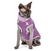 Свитер для котов и кошек Pet Fashion БРЮС M, Спина: 31-35, обхват груди: 39-44 (фиолетовый и мятный)