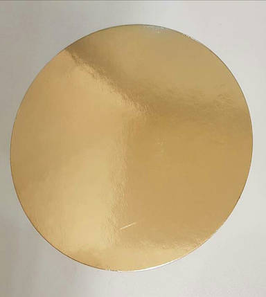 Подложка круг 36 см уплотненная 3мм, Золото/черная, 3 мм., фото 2